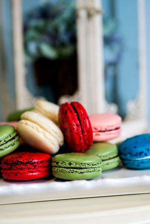JIM VAIKNORAS/Staff photo Macaroons from  Tars Leigh Cakes  in Middleton