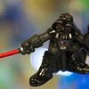 JIM VAIKNORAS/Staff photo A tiny Vader action figures at Nick's Comicaly Speaking