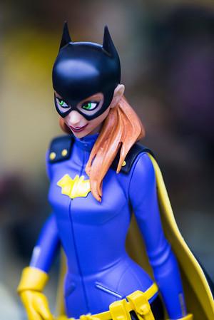 JIM VAIKNORAS/Staff photo A Bat Girl figueine $124.95 at Nick's Comicaly Speaking