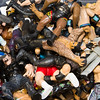 JIM VAIKNORAS/Staff photo  A bin of Pro Wrestling action figures at Nick's Comicaly Speaking