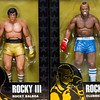 "JIM VAIKNORAS/Staff photo Two Rocky 3 action figues ""Rocky Balboa"" and ""Clubber Lang"" $19.95 each at Nick's Comicaly Speaking"