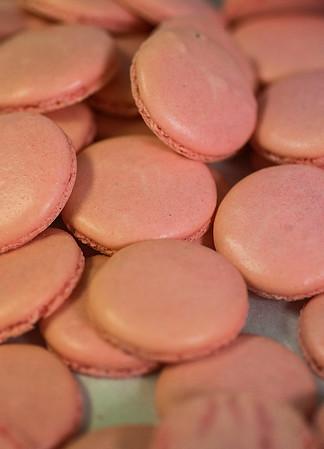 JIM VAIKNORAS/Staff photo Pink macaroons at Tara Leigh Cakes in Middleton.