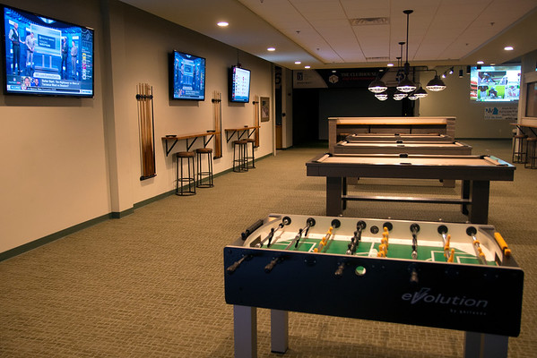 JIM VAIKNORAS/Staff photo  Pool and fooseball $15 an hour at the Club House in Middleton.