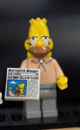 JIM VAIKNORAS/Staff photo LEGO Grampa Simpson Minifigure $5 at Nick's Comicaly Speaking