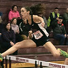 The Midland Wachusett Division B League Meet was held at Fitchburg High School Saturday, Feb. 1, 2020. Groton Dunstable Regional High School's #200 Moriah Scharn competes in the hurdles. SENTINEL & ENTERPRISE/JOHN LOVE