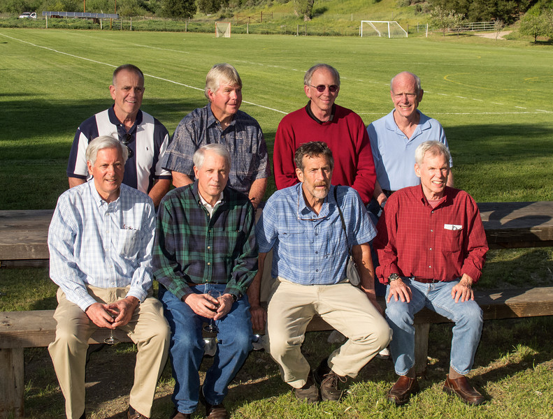 ATTENDING MEMBERS OF THE CLASS OF 1962: NEVINS, KUNASZ, FREEMAN, CARR, F. WENTWORTH, A. WENTWORTH, M. FRYE, CROSS.