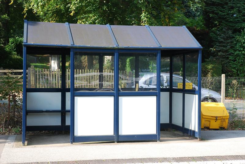 waiting shelter on platform 1