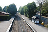 Although at Barnt Green Platforms 3 & 4 get an all day service serving the Redditch Branch but the Through platforms 1 & 2 only get a very limited service.<br /> <br /> The above shot shows platforms 1 & 2 taken from the Footbridge looking towards Bromsgrove