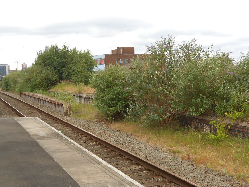The old platforms looking towards Birmingham