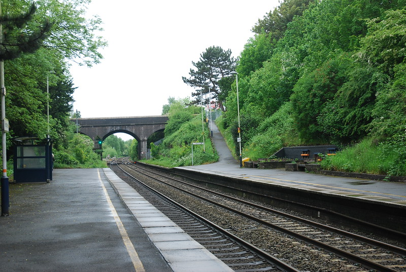 The shelter and access ramp on Derby bound platform