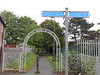 pic by Liz <br /> <br /> Entrance to Park next to station