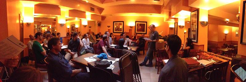 Pre Game Briefing at the Gemini Diner
