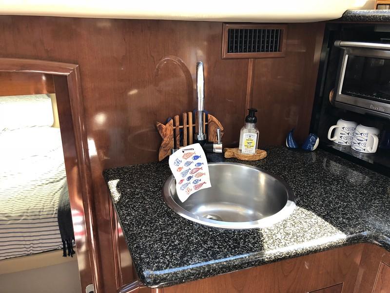 Upgraded faucet , added soap dispenser
