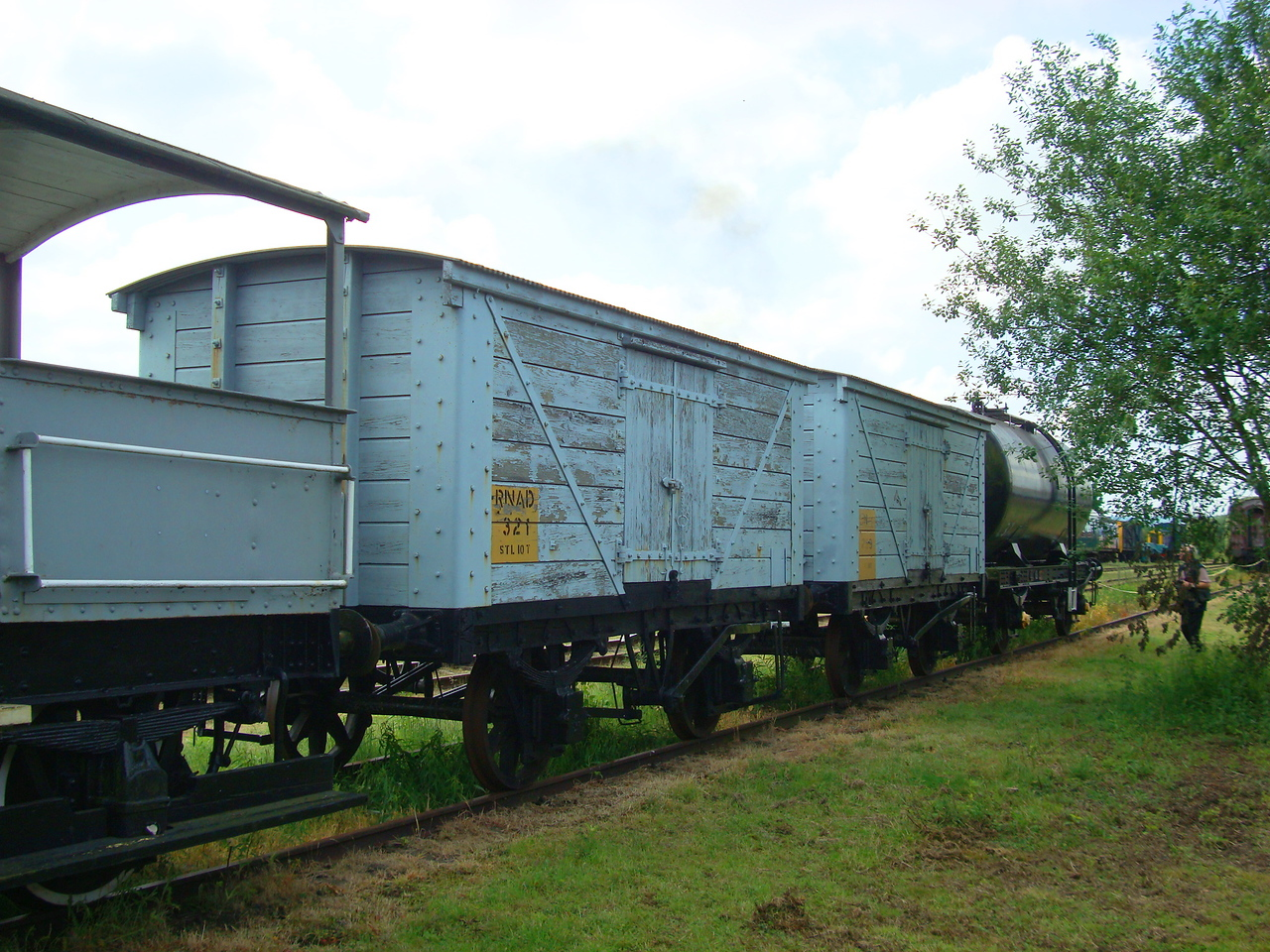 LNWR 321 Non Ventilated Van Plank &( LNWR 289  Non Ventilated Van Plank Behind)  07,06,2008 ( Photo At Long Marston Airfield)