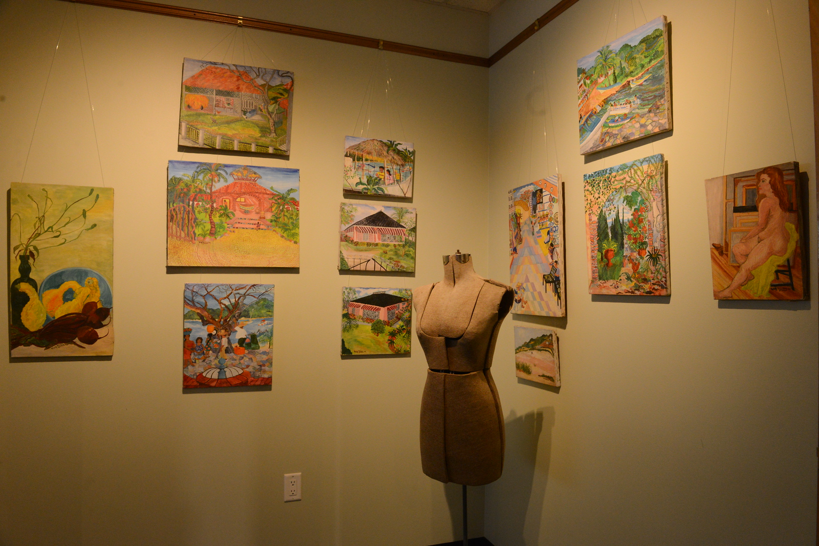 Cornell St. Studios is part of the Midtown Arts District. Above, the art of Estelle Tambak is  currently on exhibit