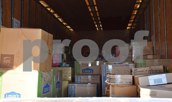 The community donated more than 40,000 pounds of nonperishable items, collected at Crossview Church in DeKalb, to aid in the American Red Cross' Hurricane Harvey relief efforts in Houston, Texas.