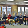 Members of the Bridges Choir perform Sunday at DeKalb Area Retirement Center – Oak Crest. Elizabeth Lanza, a second-year graduate student studying speech language pathology at Northern Illinois University, created the Bridges Choir in mid-October as a way to help stroke survivors improve their functional communication and language skills.