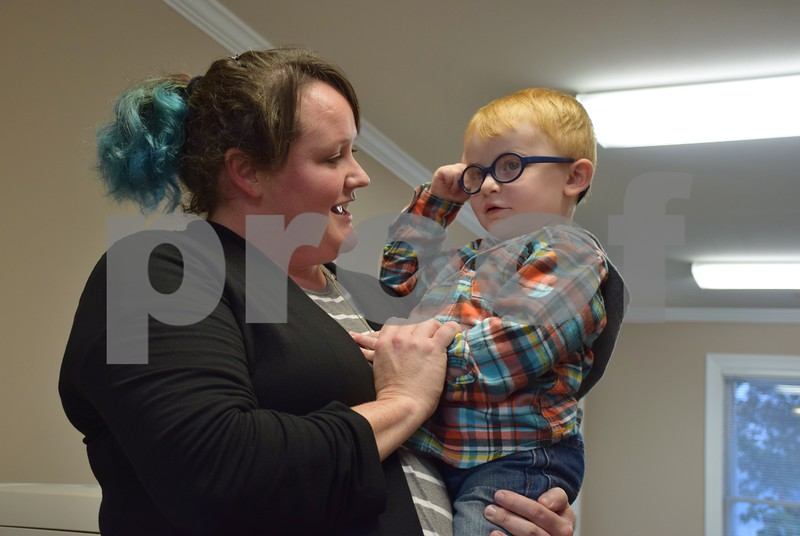 Two-year-old Clark Cutler of Malta, pictured with his mother Jen, has been diagnosed with Pelizaeus-Merzbacher disease, a type of leukodystrophy. Because of his young age, it is unknown whether Clark will be able to walk or talk, but his family travels with him to Indiana and Chicago to see doctors and specialists and he attends physical, occupational and speech therapies. He also attends hippotherapy, or therapy on horseback, at Heightened Potential Co. in Kirkland.
