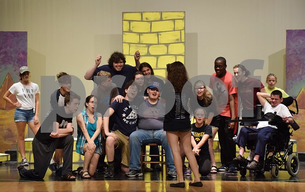 "Cast members of Children's Community Theater's Penguin Project production of ""Joseph and the Amazing Technicolor Dreamcoat"" rehearse on Sept. 22 at Sycamore High School. The musical will be performed Thursday, Sept. 28, through Sunday, Oct. 1."