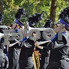The Genoa-Kingston High School Marching Band performs during the 56th annual Sycamore Pumpkin Festival Parade on Sunday. The band placed second in their class.
