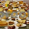 Homemade desserts line the table at the free community Thanksgiving dinner on Sunday at the Evangelical Lutheran Church of St. John in Sycamore. Thirty-one turkeys were cooked for the dinner, which an average of 275 people attend each year.