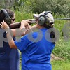 Katrina J.E. Milton - kmilton@shawmedia.com<br /> Misty Underhill of Algonquin (left) is taught by Illinois Department of Natural Resources instructor Nancy Donaldson how to shoot a 28-gauge semi-automatic shotgun during a wingshooting clinic Aug. 20 at Shabbona Lake State Park.