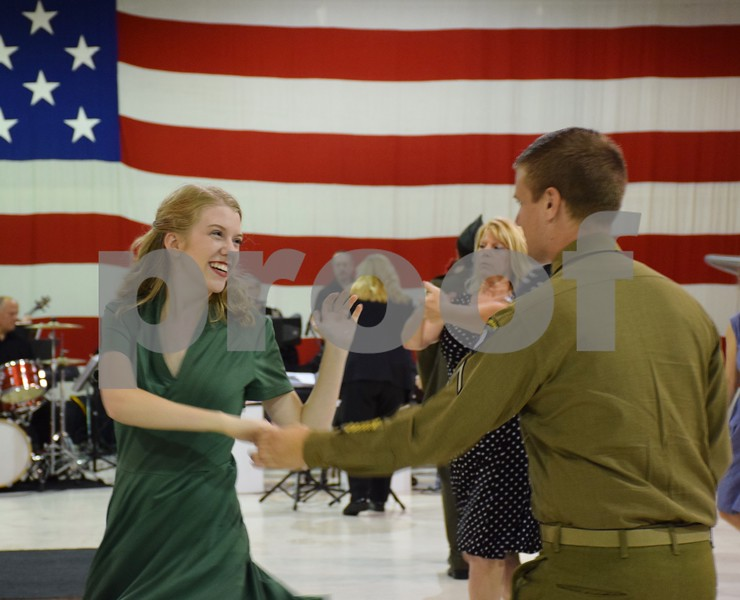 The third annual USO Fundraiser Hangar Swing Dance on Saturday featured live music by the Lakes Area Swing Band and dance lessons by Carl Linder and Karrie Willis.