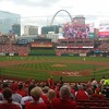 View of Busch Stadium before the game