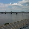 View of the Ohio River while traveling in Louisville KY
