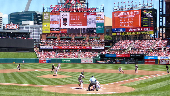 2nd inning of Sunday afternoon game at Busch Stadium