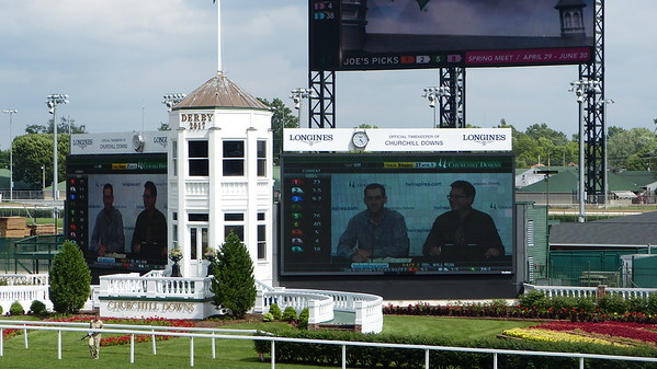 View of the infield at Churchill Downs