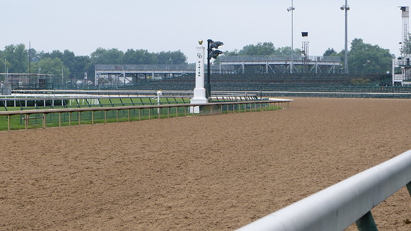 "The ""first turn"" at Churchill Downs"