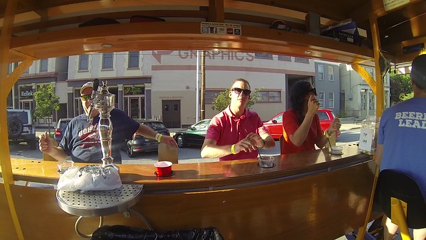 "Riding the ""Thirsty Pedaler"" through the streets of Louisville"