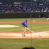 Prepping the field at Wrigley Field