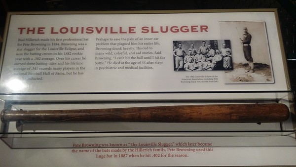 One of the original Louisville Slugger bats ever made in 1887