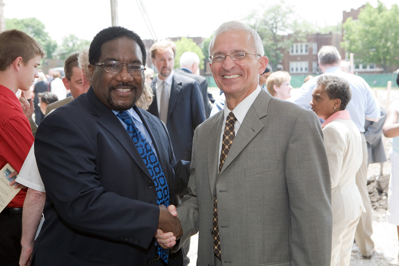 Pictured here are Rev. Marshall Hatch, Trustee and  Dr. Tony Barbato, President of the Board of Trustees for CTK.