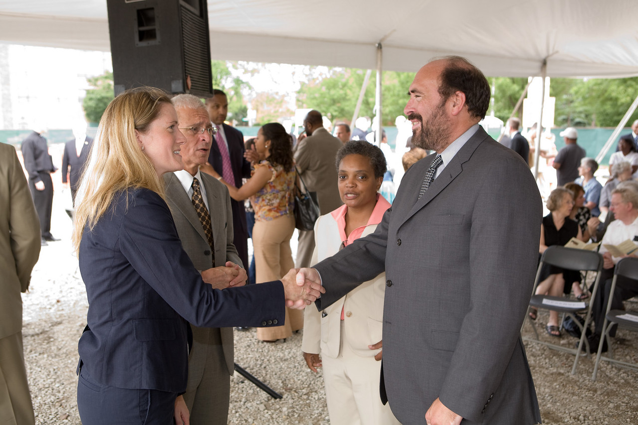 On June 26, 2008 community members gathered to celebrate the groundbreaking of Christ the King Jesuit College Preparatory School on Chicago's West Side.