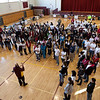 """Over 200 students gathered together to kick-off the first """"Jesuit Day of Service."""""""