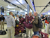 Upon arrival in Dublin, Fr. Pat McGrath enjoys checking in with Loyola students as excitement overrides jet lag!