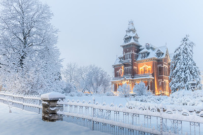 Vaile Mansion in Fresh Snow