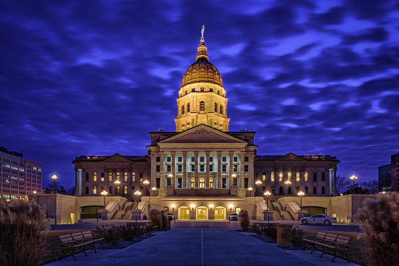 Kansas Capitol Building - Blue Hour