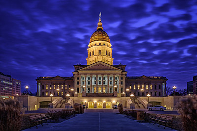 Kansas Capitol Building - Blue Hour