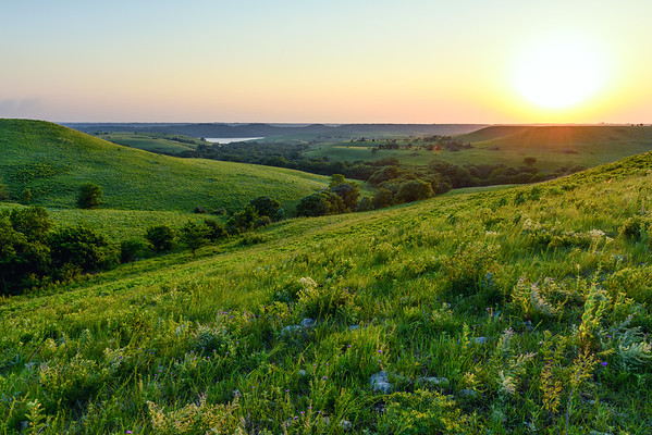 Flint Hills Sunset Delight