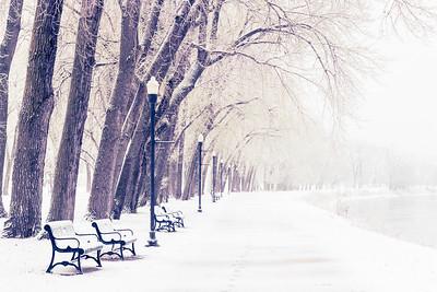English Landing Park Snow