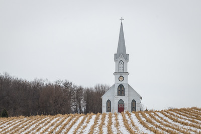 Rural Church in Iowa