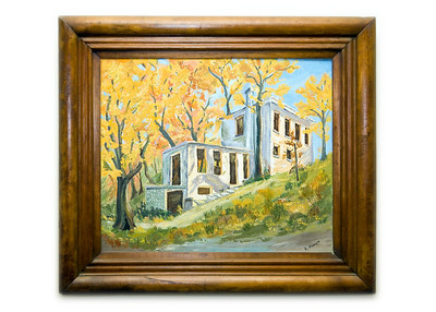 Original painting of the Springhouse by R. Plunkett