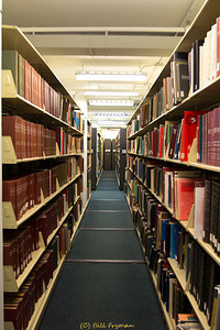 Shelves of Books - The traditional library interior photo