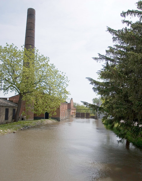 Millrace, Amana - Old wool mill in background