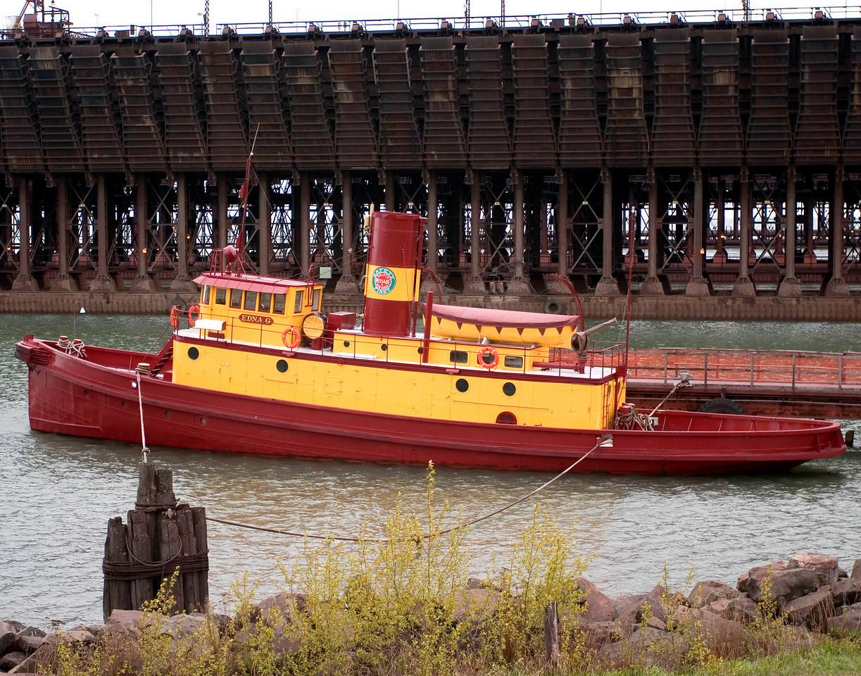 Tug Edna G, Two Harbors -- Last steam powered tug on Lake Superior