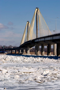 Ice below Clark Bridge